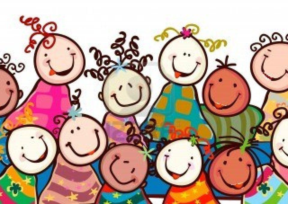 12428605-bambini-felici-con-volti-sorridenti